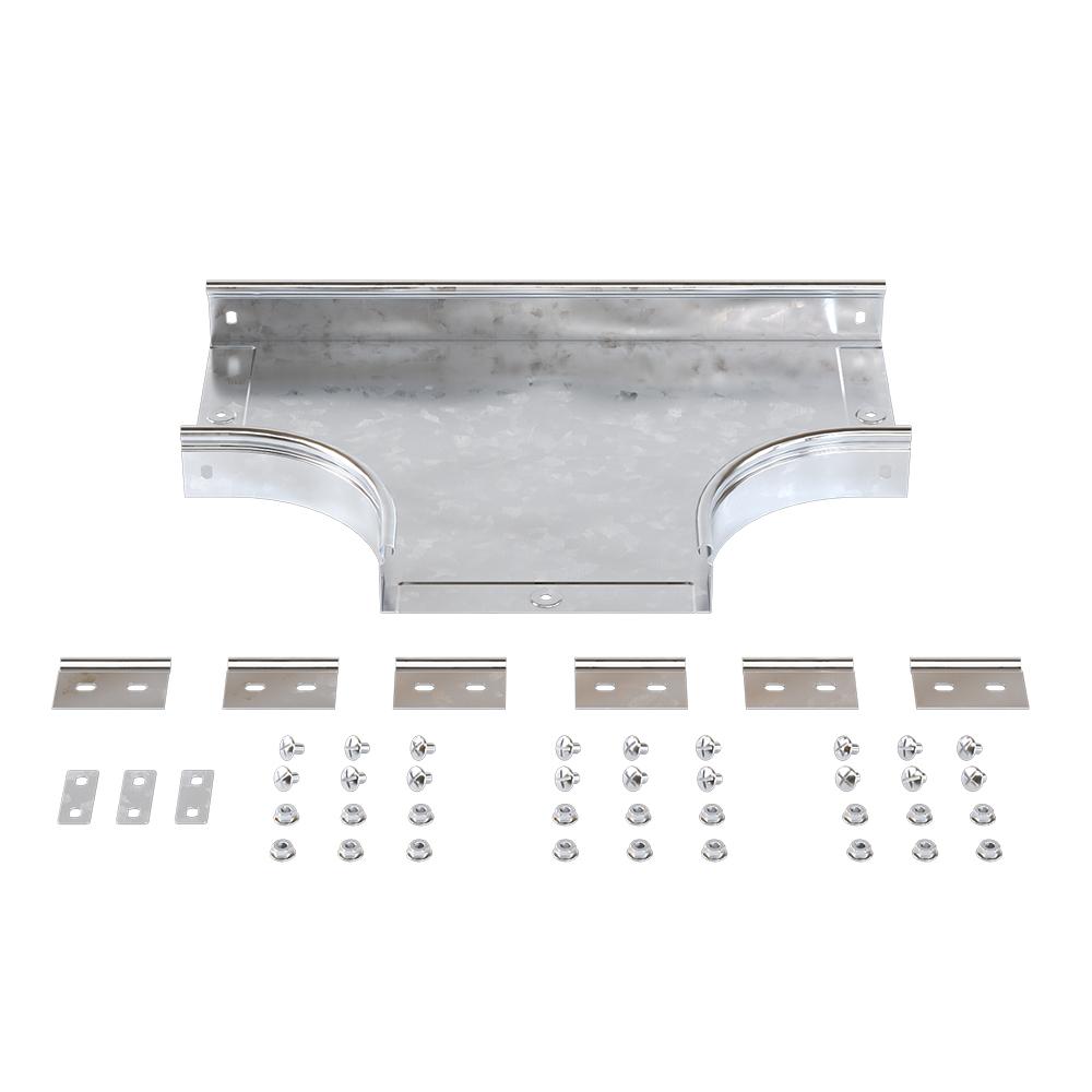 Ответвитель для лотка Т-образный горизонтальный DKC (36125K) 300х50 мм металлический с креплением