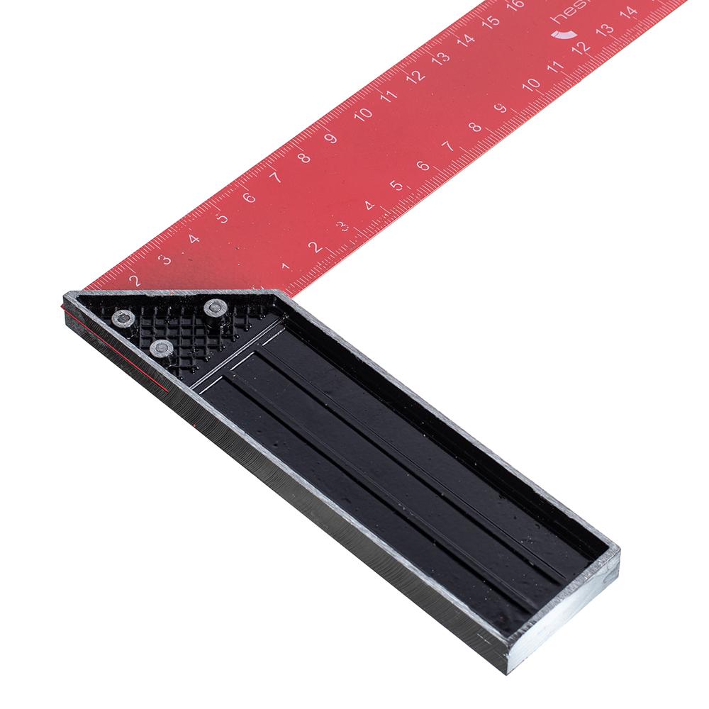 Угольник строительный Hesler 350 мм стальной