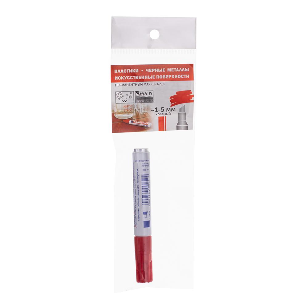 Маркер перманентный Edding 1 красный грифель 1-5 мм