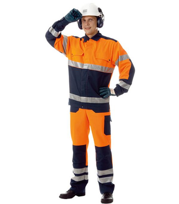 Костюм рабочий сигнальный Асфальт Мастер 56-58 рост 170-176 см цвет оранжевый цена 2017