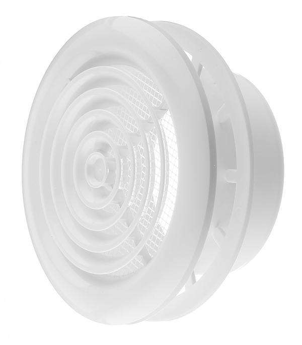 цена на Диффузор приточно-вытяжной потолочный Вентс с фланцем d100 мм белый