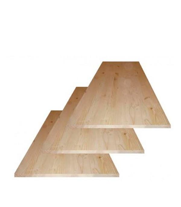 Щит мебельный хвоя 18х600х1200 мм сорт АВ клееный