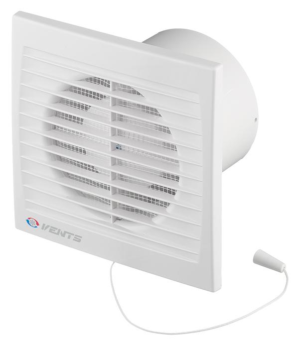 Вентилятор осевой d100 мм Вентс 100СВ с шнурковым выключателем белый цена и фото