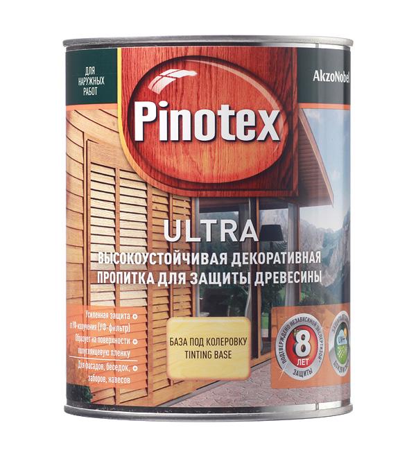 Купить Декоративно-защитная пропитка для древесины Pinotex Ultra бесцветный 1л, Бесцветный