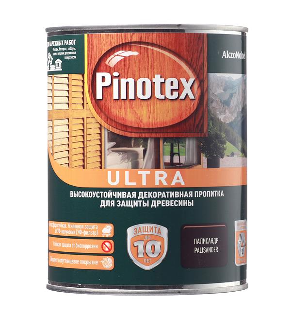 Декоративно-защитная пропитка для древесины Pinotex Ultra палисандр 1л