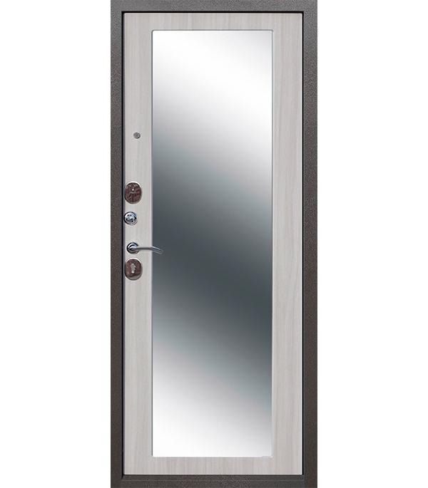 Купить Дверь входная 10 см Троя MAXI зеркало дуб сонома 960х2050 мм левая, Сталь
