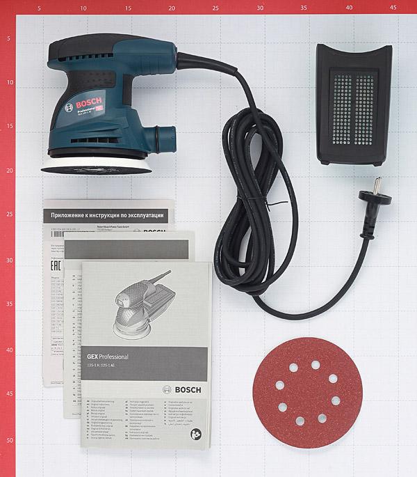 Шлифмашина эксцентриковая электрическая Bosch GEX 125-1 AE (601387500) 250 Вт d125 мм фото
