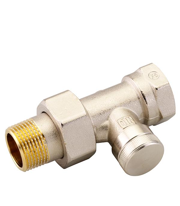 Клапан запорный прямой Danfoss RLV-20 (003L0146) 3/4 НР(ш) х 3/4 ВР(г) для радиатора никелированный