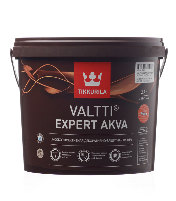 Антисептик Valtti Expert Akva рябина Тиккурила 2,7 л пинотекс classic антисептик дуб 2 7 л