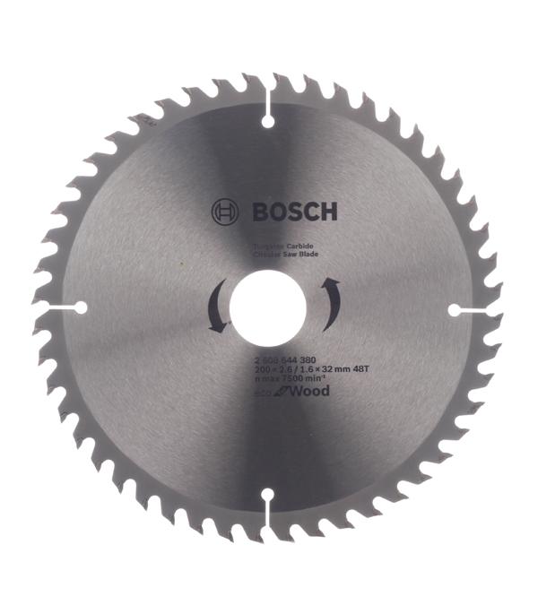 Диск пильный по дереву Bosch Optiline ECO (2608644380) 200х32х2,5 мм 48 зубьев