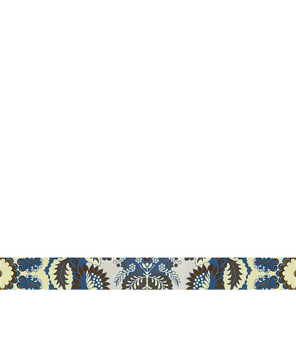 Плитка бордюр 600х65х8 мм Эрантис 01 синий бордюр keros ceramica fresh cen gaudi 5х40