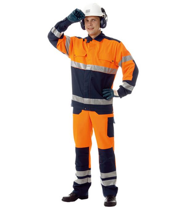 Костюм рабочий сигнальный Асфальт Мастер 52-54 рост 182-188 см цвет оранжевый цена 2017