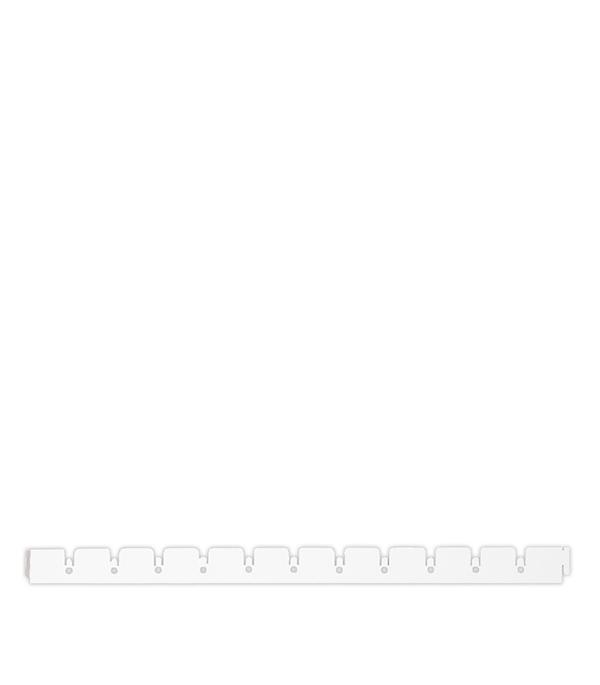 Рейка направляющая Грильято белая матовая 50х50 мм 0.6 м