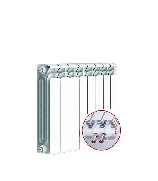 Радиатор биметаллический Rifar Base Ventil 500 мм 4 секции 3/4 нижнее левое подключение белый биметаллический радиатор rifar рифар b 500 нп 10 сек лев кол во секций 10 мощность вт 2040 подключение левое