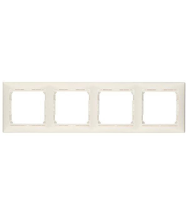 Рамка четырехместная Legrand Valena белая legrand рамка valena белая четырехместная
