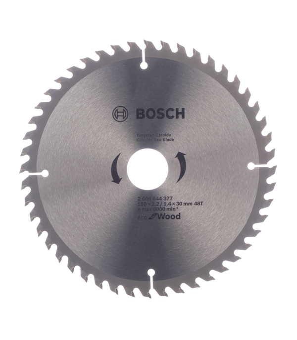 Диск пильный по дереву Bosch Optiline ECO (2608644377) 190х30х2,5 мм 48 зубьев диск отрезной для ручных циркулярных пил bosch optiline wood 2608640613