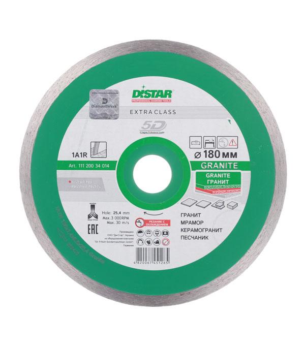 Диск алмазный сплошной по керамограниту DI-STAR 5D 180x25,4 мм диск алмазный сплошной по керамике 150х22 2 мм shaft