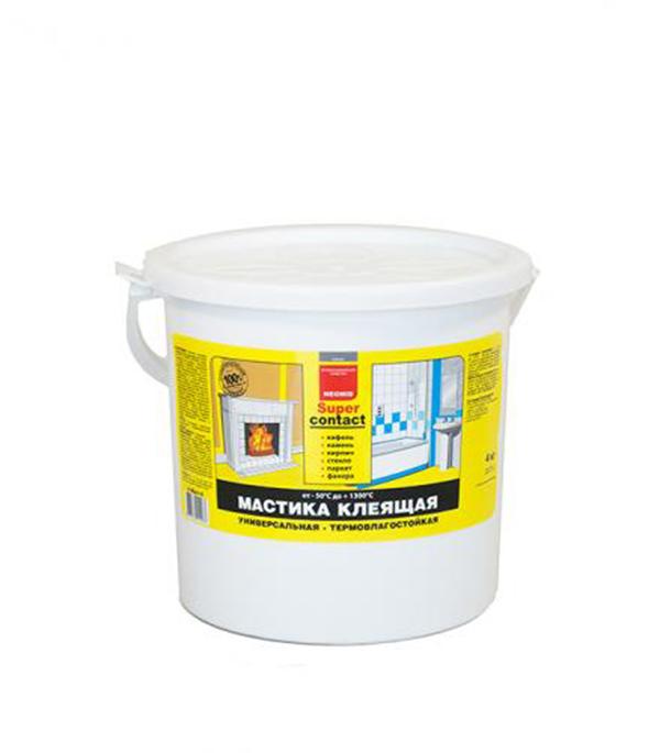 Мастика клеящая универсальная термостойкая NEOMID 4 кг мастика клеящая neomid supercontact термостойкая 20кг
