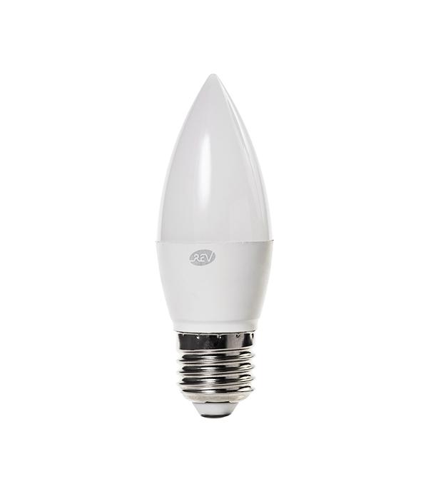 Лампа светодиодная E27 5W C37 2700K, теплый свет, REV t10 4 5w 350lm 9x5050 smd led white light car clearance dome dashboard lamp