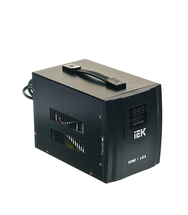 Стабилизатор напряжения IEK СНР1-0-1 кВА электронный переносной стабилизатор напряжения iek снр1 0 2 ква