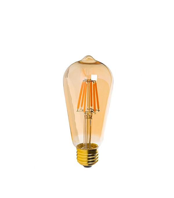 купить Лампа светодиодная REV филаментная E27 7Вт 2700K теплый свет ST64 груша винтаж по цене 189 рублей