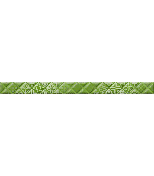 Плитка бордюр Relax 400х30х8 мм аура зеленая 494411
