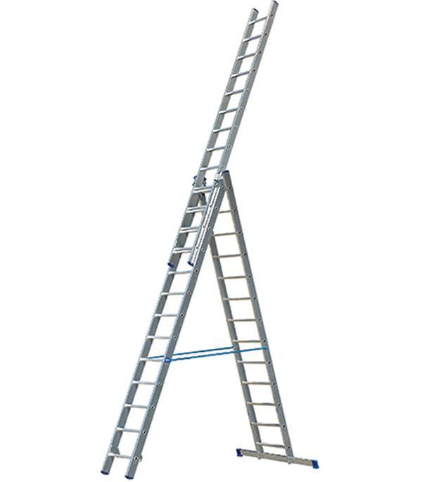 Лестница Tikli 3-х секционная выдвижная профессиональная 3х13 лестница новая высота приставная 10 ступеней