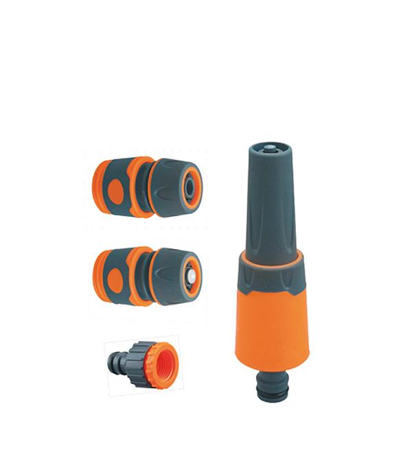 Насадка-разбрызгиватель в комплекте с коннекторами 3/4 коннектор гибкий для шланга green apple gwfc120 024