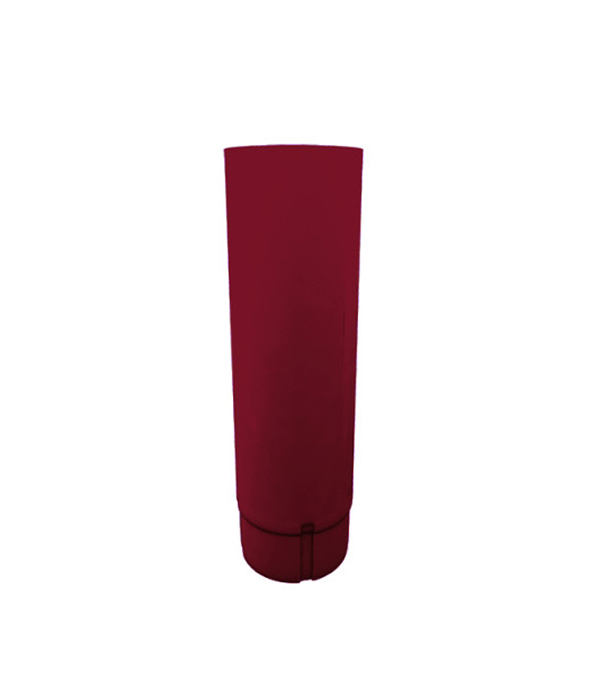 Купить Водосточная труба металлическая Grand Line d90мм 2, 5 м красное вино, Красное вино, Металл