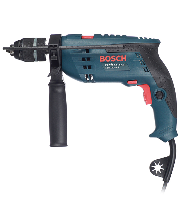 Дрель ударная Bosch GSB 1600 RE 701 Вт картрайт п кирпичная кладка уроки мастера