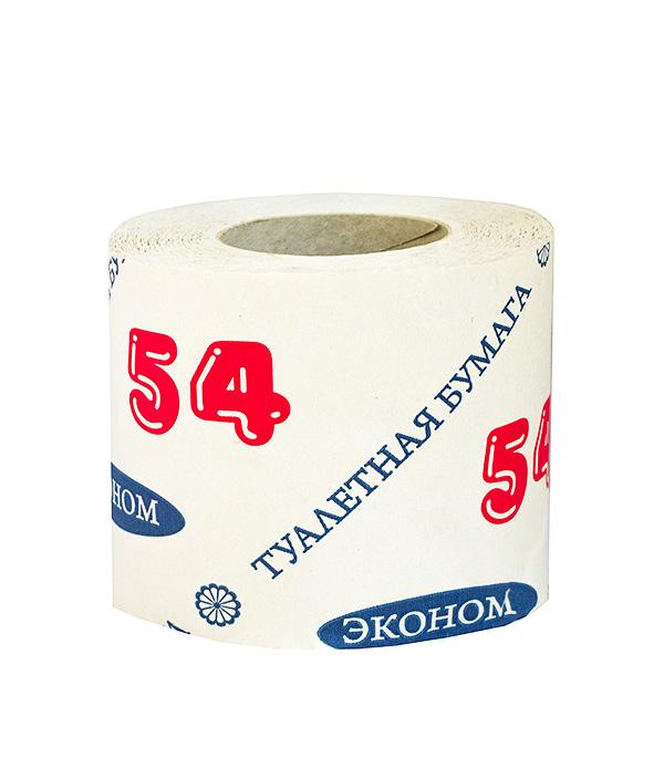 Бумага туалетная белая однослойная 50