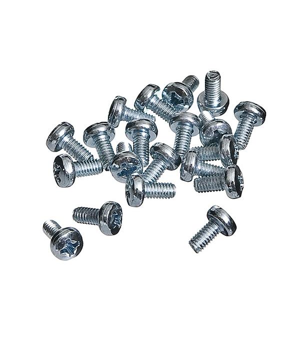 Винты оцинкованные М4х8 мм DIN 7985 полукруглая головка (20 шт)