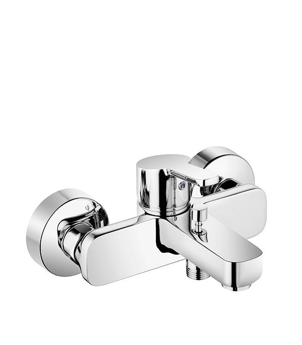 Смеситель для ванны и душа KLUDI LOGO NEO 376810575 с коротким изливом однорычажный без лейки смеситель для ванны хром kludi 388120538