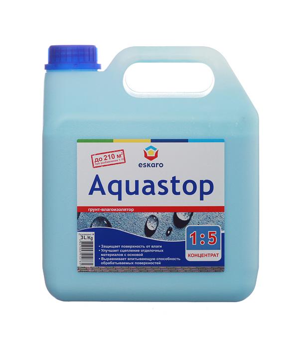 Грунт концентрат Eskaro Aquastop 3 л грунт адгезионный eskaro aquastop betoncontaсt 1 5кг