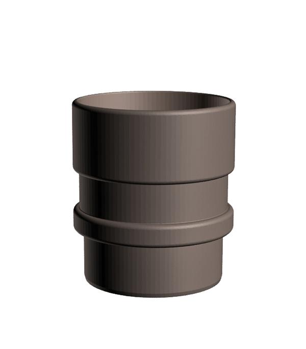 Муфта водосточной трубы соединительная пластиковая Docke Lux d100 мм шоколад
