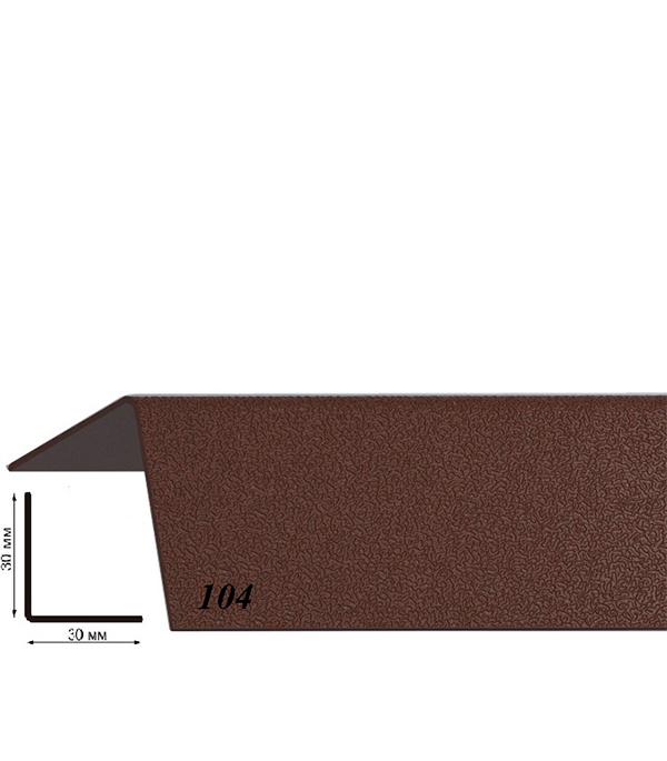 Угол пластиковый с тиснением 30х30х2700 шоколад 104 угол пластиковый с тиснением 30х30х2700 бук натуральный 155