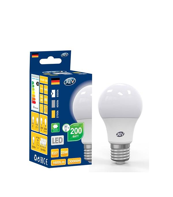 Лампа светодиодная REV Е27 25Вт 6500К холодный свет А70 груша цена