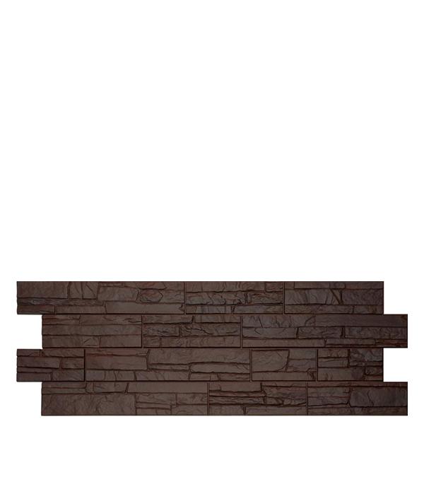 Фасадная панель Docke-R Stein темный орех 1098х400х3.0 мм