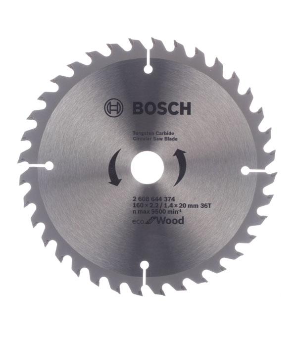 Диск пильный по дереву Bosch Optiline ECO (2608644374) 160х16/20х2,5 мм 36 зубьев диск отрезной для ручных циркулярных пил bosch optiline wood 2608640613