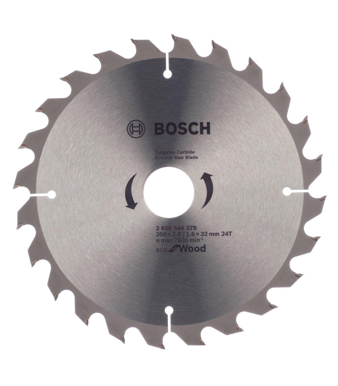 Диск пильный по дереву Bosch Optiline ECO (2608644379) 200х32х2,5 мм 24 зуба диск отрезной для ручных циркулярных пил bosch optiline wood 2608640613