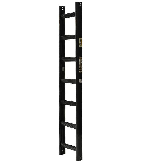 Лестница кровельная GWS односекционная алюминиевая 1х7 антрацит RAL 7016