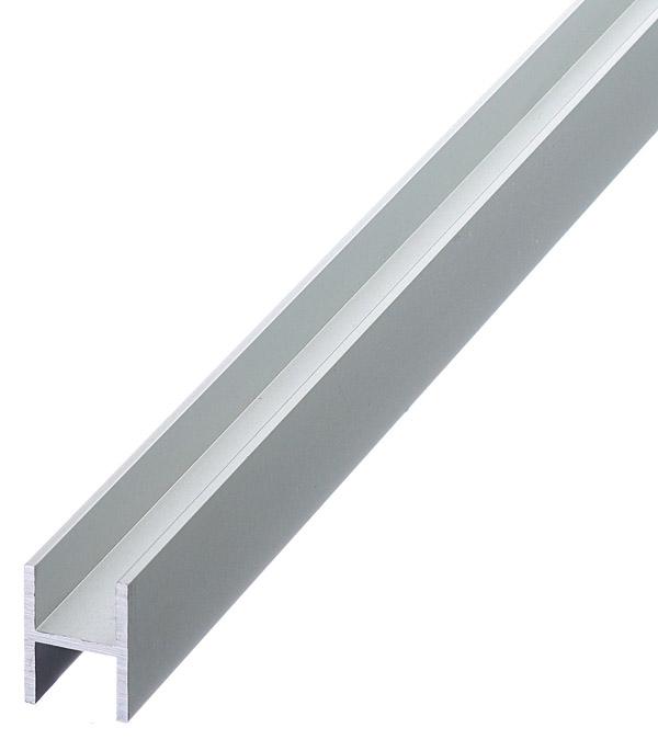 Профиль H-образный алюминиевый 18х13х18х1,5х1000 мм анодированный