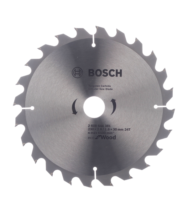 Диск пильный по дереву Bosch Optiline ECO (2608644381) 230х30х2,5 мм 24 зуба диск отрезной для ручных циркулярных пил bosch optiline wood 2608640613