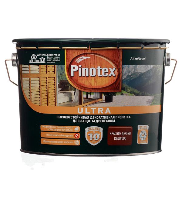 Купить Декоративно-защитная пропитка для древесины Pinotex Ultra красное дерево-махагон 9 л, Махагон
