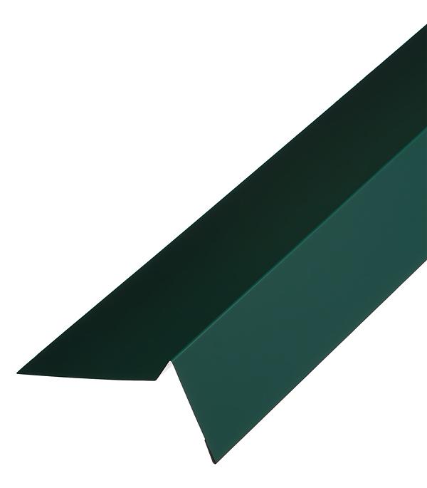 Торцевая планка для гибкой черепицы 100х65 мм 2 м зеленая RAL 6005 конек для металлочерепицы плоский с пазом 135х35х60х35х135 мм 2 м зеленый ral 6005