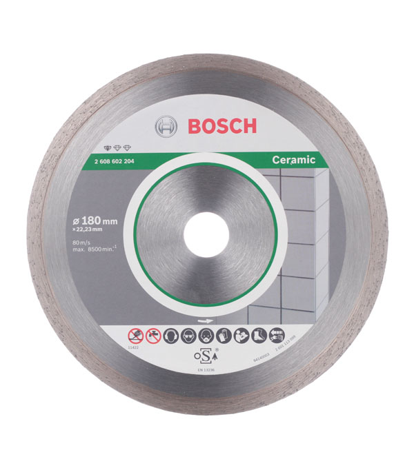 цена на Диск алмазный сплошной по керамике Bosch Professional 180х22.2 мм
