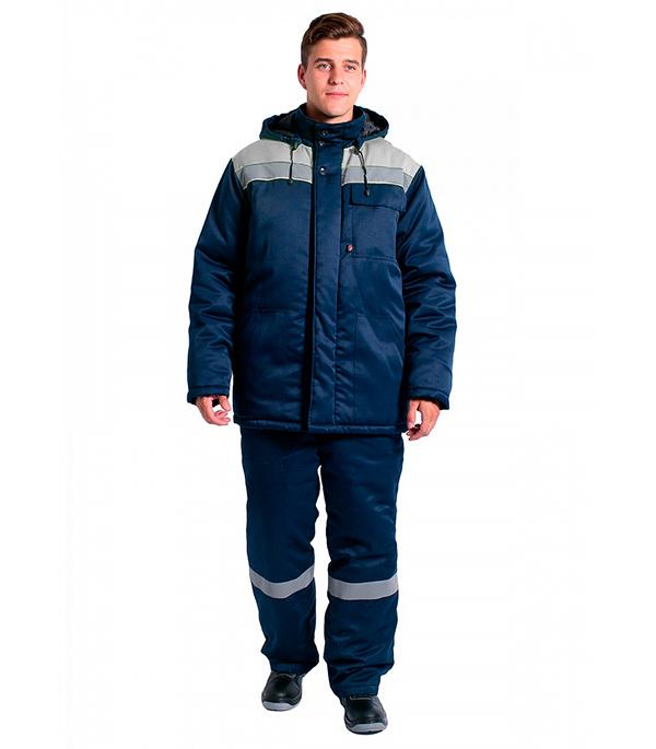 Куртка зимняя Delta Plus Эксперт-Люкс размер 52-54 рост 182-188 темно-синий/серый цвет куртка зимняя delta plus фаворит размер 56 58 рост 182 188