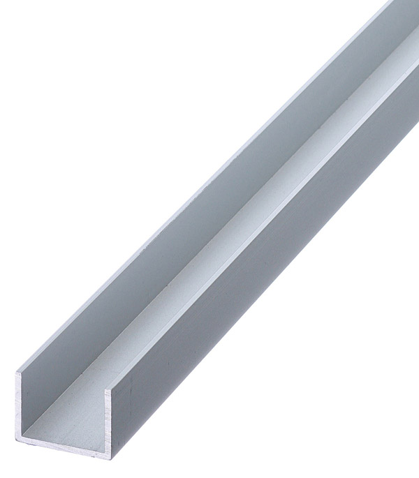 Профиль U-образный алюминиевый 15х20х15х1,5х2000 мм анодированный arlight алюминиевый профиль box60 side 2000 anod