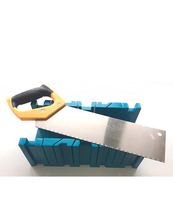 Стусло пластиковое 350х120х110 мм с ножовкой 350 мм пластиковое стусло с ножовкой stanley 1 20 600