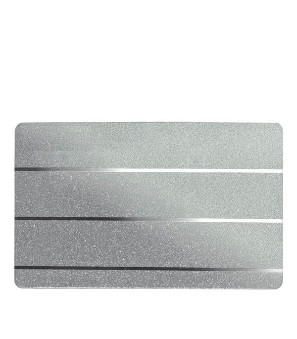Комплект для туалетной комнаты A100AS 1.35х0.9 м серебристый металлик с металлической полосой